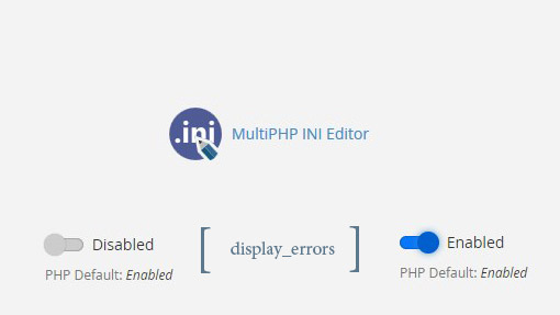 Php ini Display Error